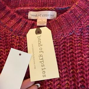 NWT Band of Gypsies pink sweater - M